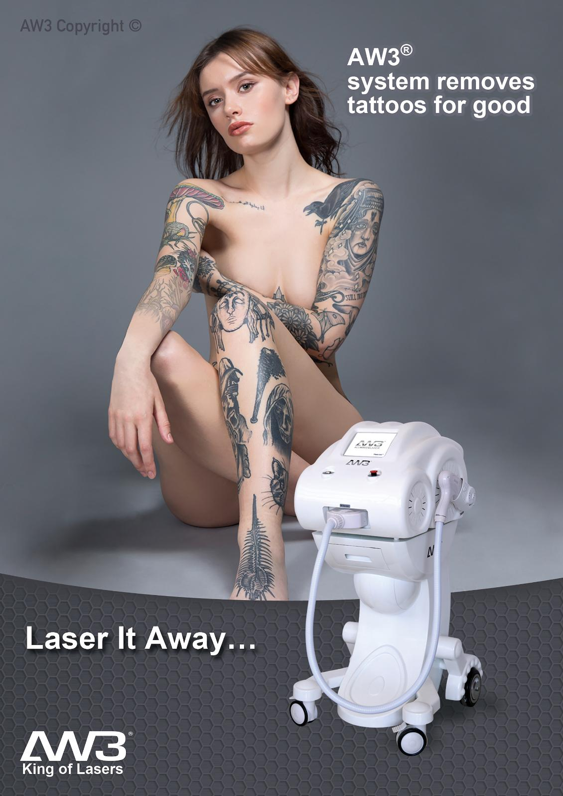tattoo, wrinkle and thread vein removal